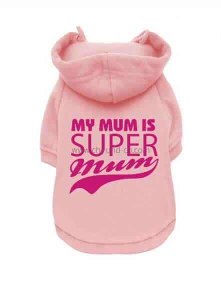 UP SUPER MUM Sweater mit Hoodie