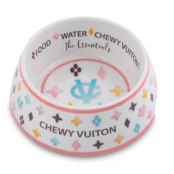 HDD White Chewy Vuiton Hundenapf (2er-Set)