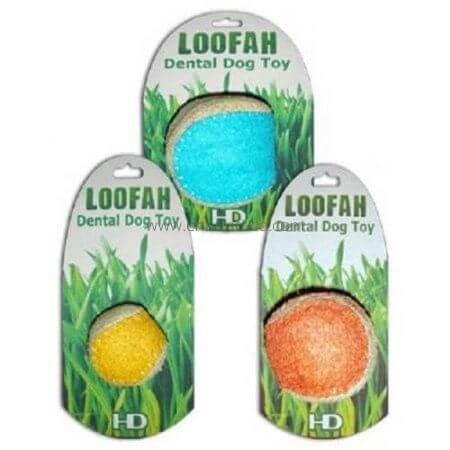 HD LOOFAH BALL 100% natürliches Zahn Spielzeug