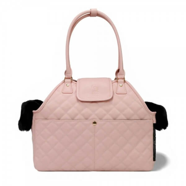 B-Ware CD Paris Quilted Carrier Hundetasche ROSA