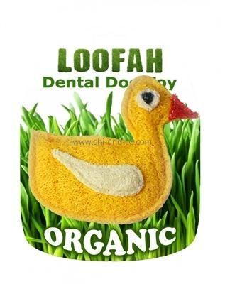 LOOFAH DUCK 100% natürliches Zahn Spielzeug