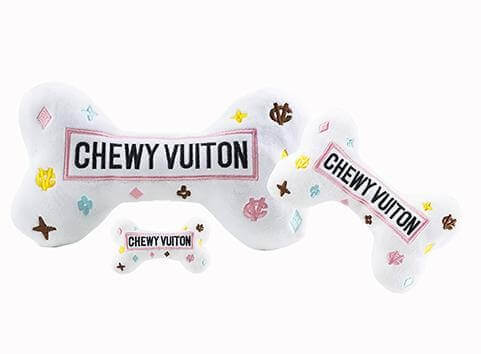 HDD White Chewy Vuiton Knochen Spielzeug