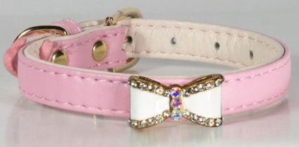 HD PINK BOW Halsband