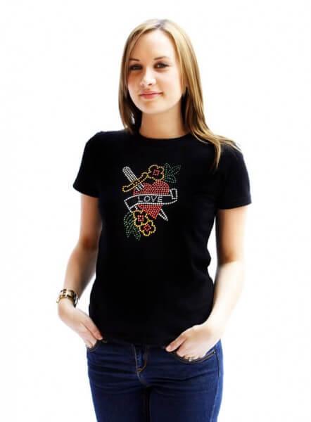 UP LOVE HEART Frauchen-T-Shirt