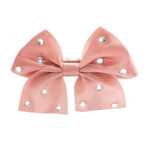 FL PINK BIG BOW Halsband