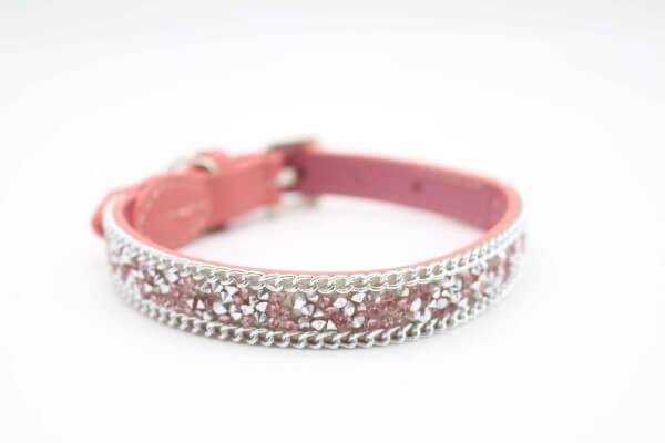 FB BRILLI-BRILLI Lederhalsband Pink