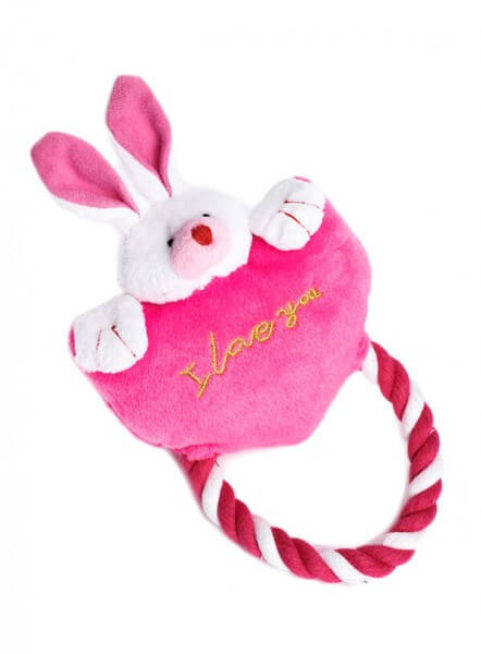 UP I LOVE YOU Bunny Spielzeug - PINK