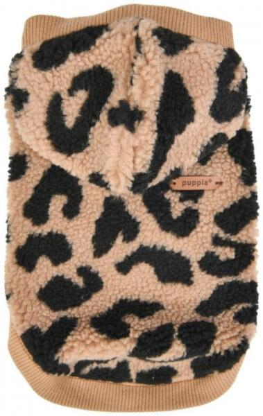 PU Serval Winter-Hoodie BEIGE