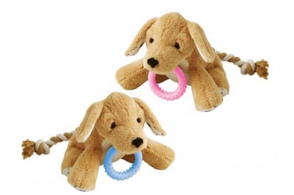 Plüsch-Welpenspielzeug Hund Basti