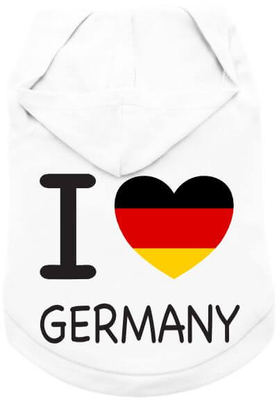 UP I Love Germany T-Shirt mit Hoody
