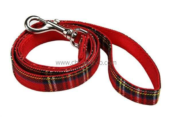 UP RED TARTAN Leine