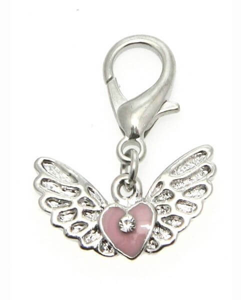 UP ANGEL WINGS/HEART CHARM Anhänger