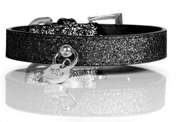 mp stardust black halsband mini von 12 bis 25 cm halsb nder gassi chi co shop f r. Black Bedroom Furniture Sets. Home Design Ideas