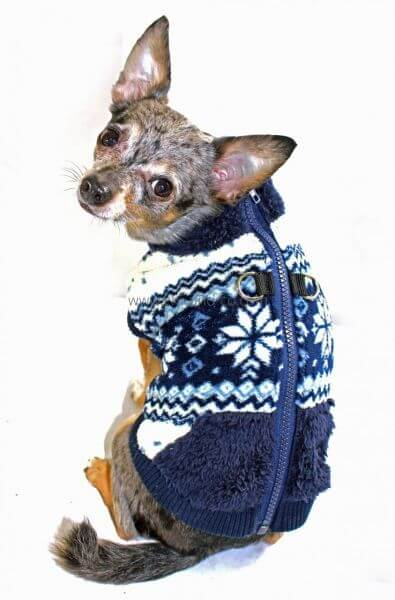 HD SOFT SNOWFLAKY Fleece Sweater inkl. Geschirr