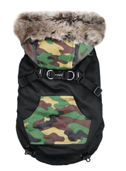 PU ORSON Winterjacke mit integr. Geschirr schwarz