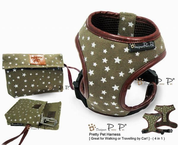 PP STAR Geschirr + Leine + Autogurt + Tasche (Set)