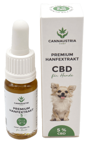 CannaVetri Premium Hanfextrakt für Hunde 5 %