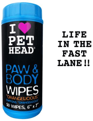 PET HEAD PAW & BODY WIPES - Tücher für Pfoten & Körper (50 Stk)