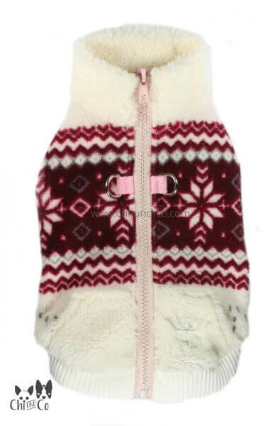 HD SOFT SNOWFLAKY Fleece Sweater inkl. Geschirr
