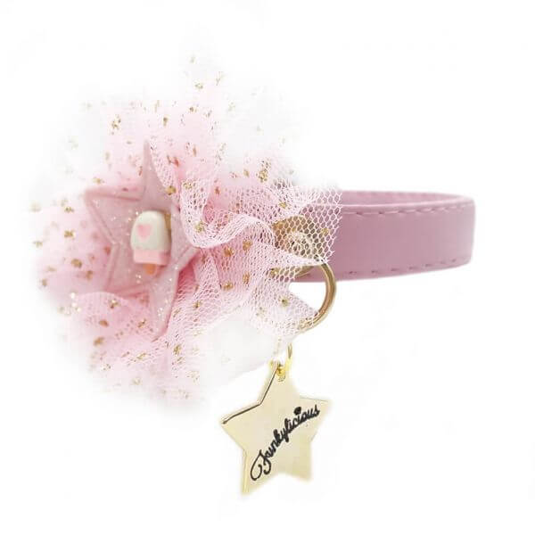 FL COTTON CANDY PINK Halsband