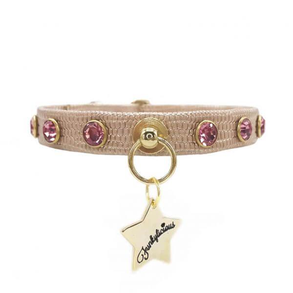 FL CRYSTAL ROSE GOLD Halsband