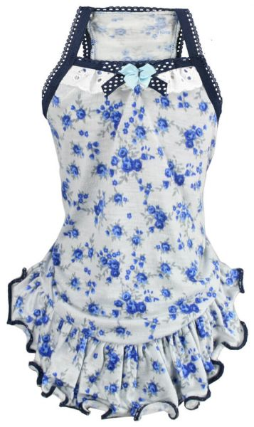 HD BLUE FLOWERED Kleid
