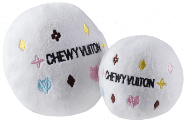 HDD White Chewy Vuiton Ball Spielzeug